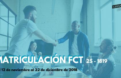 Matrículas FCT 2S - 18/19