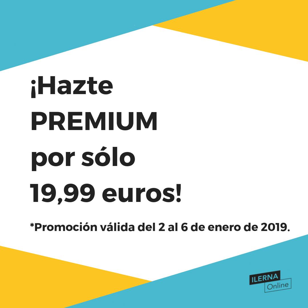 ¡Hazte Premium del 2 al 6 de enero de 2019 por sólo 19,99 euros!