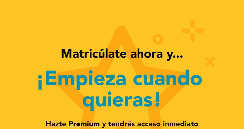 ¡Hazte Premium y tendrás acceso directo al Campus Virtual y al contenido de las asignaturas a partir del momento en que te matricules!