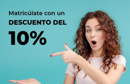 ¡Matrículate en ILERNA Online con un descuento del 10%!