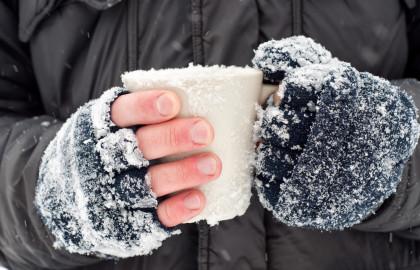 La congelación es más habitual que afecte manos, pies y cara.