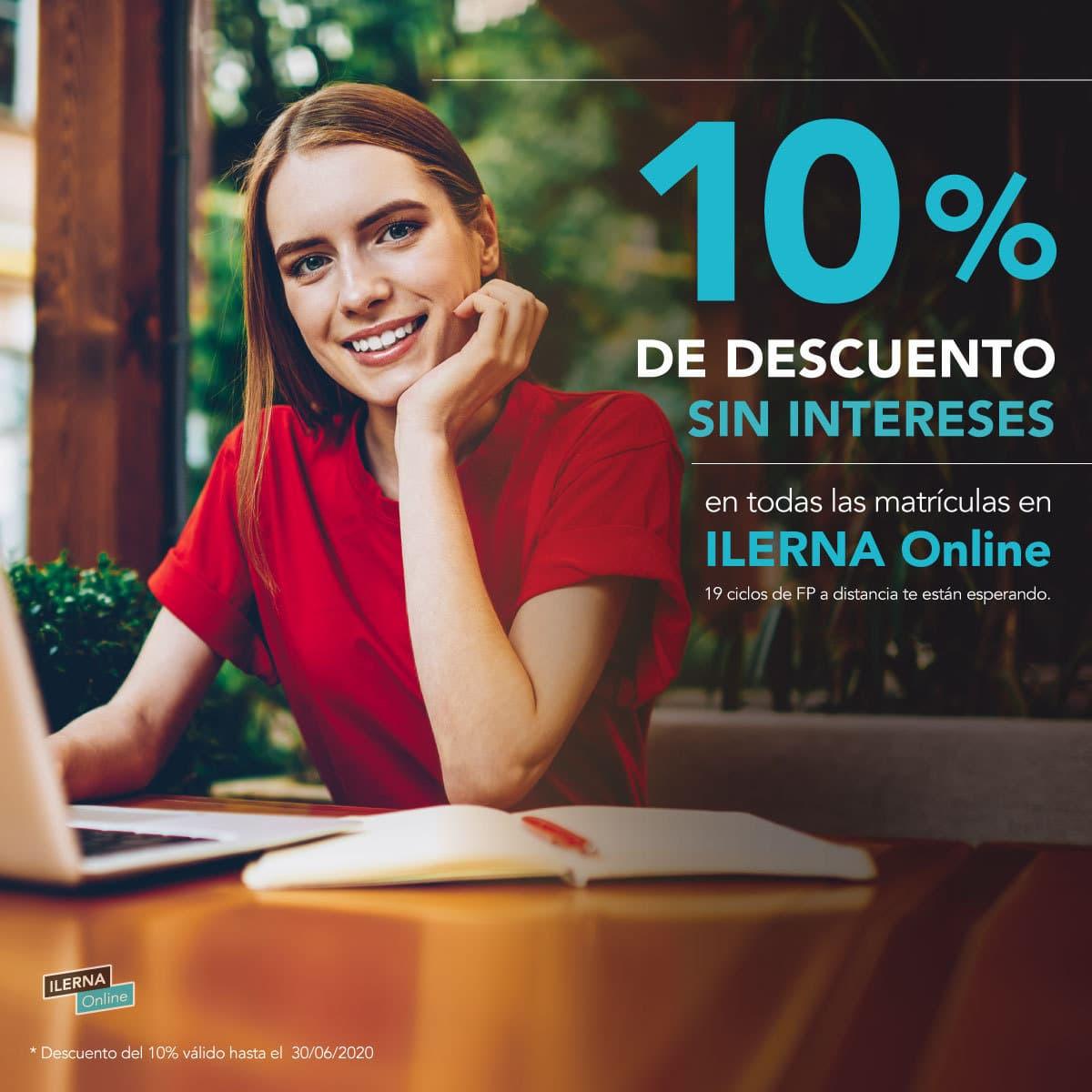Matricúlate en ILERNA Online con descuento y financia tu matrícula sin intereses